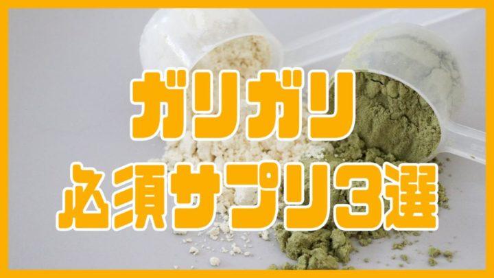 【脱ガリガリ】太る為の必須サプリメント3選【初心者向け】